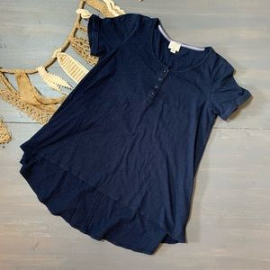 Postmark Blue Henley Top